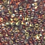 4 Dozen Czech 2mm Fire-Polished Glass Beads - Crystal California Gold Rush
