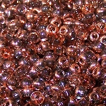 7.5 Grams Of Miyuki Czech Unions Size 8 Seed Beads - Crystal Capri Gold