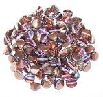7.5 Grams of Czech 7mm Pinch Beads - Crystal Copper Rainbow