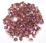 5 Grams of 4mm Czech Glass Button Beads - Crystal Copper Rainbow