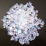 5 Grams of 4mm Czech Glass Button Beads - Crystal Full AB