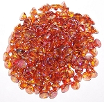 5 Grams of 4mm Czech Glass Button Beads - Crystal Full Apricot Medium