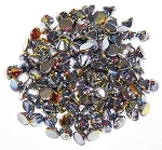 5 Grams of 4mm Czech Glass Button Beads - Crystal Full Marea