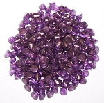 5 Grams of 4mm Czech Glass Button Beads - Crystal GT Regal