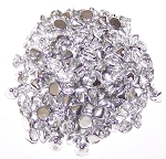 5 Grams of 4mm Czech Glass Button Beads - Crystal Labrador