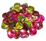 10 Czech Glass 14x13mm Petals - Crystal Magic Apple