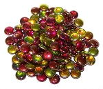 7.5 Grams of Czech 1-Hole 6mm Lentil Beads - Crystal Magic Apple