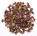 5 Grams of 4mm Czech Glass Button Beads - Crystal Magic Apple