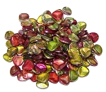 40 Czech Glass 8x7mm Petals - Crystal Magic Apple