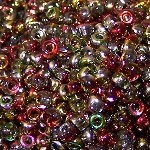 7.5 Grams Of Miyuki Czech Unions Size 8 Seed Beads - Crystal Magic Apple