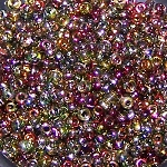 7.5 Grams of Miyuki Czech Unions Size 11 Seed Beads - Crystal Magic Apple