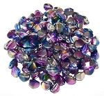 7.5 Grams of Czech 7mm Pinch Beads - Crystal Magic Blue