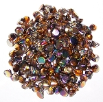 5 Grams of 4mm Czech Glass Button Beads - Crystal Magic Copper