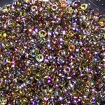 7.5 Grams of Miyuki Czech Unions Size 11 Seed Beads - Crystal Magic Green