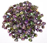 5 Grams of 4mm Czech Glass Button Beads - Crystal Magic Orchid