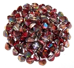 7.5 Grams of Czech 7mm Pinch Beads - Crystal Magic Wine