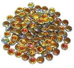 7.5 Grams of Czech 1-Hole 6mm Lentil Beads - Crystal Marea