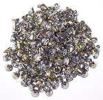 5 Grams of 4mm Czech Glass Button Beads - Crystal Marea