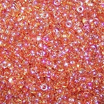 7.5 Grams of Miyuki Czech Unions Size 11 Seed Beads - Crystal Orange Rainbow