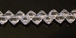 40 Czech Glass Silky 2-Hole 6mm Beads - Crystal