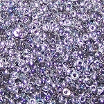 7.5 Grams of Miyuki Czech Unions Size 11 Seed Beads - Crystal Silver Rainbow