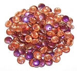 7.5 Grams of Czech 1-Hole 6mm Lentil Beads - Crystal Sliperit