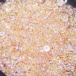 7.5 Grams of Miyuki Czech Unions Size 11 Seed Beads - Crystal Yellow Rainbow