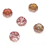 10 Czech Glass 12mm Hawaii Flower Beads - Phoenix