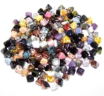 CLOSEOUT - 20 Grams of Czech Glass 6mm 2-Hole Pyramid Beads