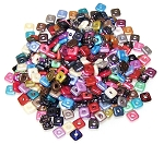 10 Grams of Czech Glass 4mm Quad Beads - Random Color Mix