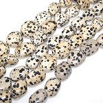 1 Strand of Semiprecious Gemstone Large Nugget Beads - Dalmatian Jasper