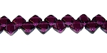 40 Czech Glass Silky 2-Hole 6mm Beads - Dark Amethyst