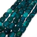1 Strand of Semiprecious Gemstone Large Nugget Beads - Dark Blue Agate