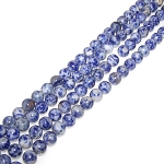 1 Strand of 8mm Round Semiprecious Gemstone Beads - Denim Lapis
