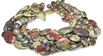 Dragon Blood Jasper Semiprecious Gemstone Beads - 7 Strand Set