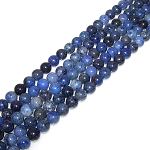 1 Strand of 8mm Round Semiprecious Gemstone Beads - Dumortierite