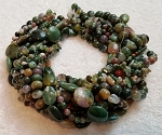 Fancy Jasper Semiprecious Gemstone Beads - 11 Strand Set
