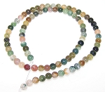 1 Strand of 4mm Round Semiprecious Gemstone Beads - Fancy Jasper
