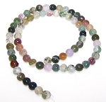 1 Dozen 6mm Round Semiprecious Gemstone Beads - Fancy Jasper