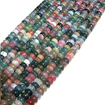 1 Dozen Fancy Jasper 8x5mm Puff Rondelle Semiprecious Gemstone Beads