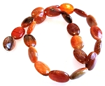 6 - 13x18mm Puff Oval Semiprecious Gemstone Beads - Fire Agate