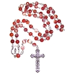 Fire Agate Beaded Rosary Making Kit