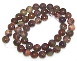 1 Strand of 8mm Round Semiprecious Gemstone Beads - Flower Agate
