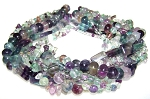Fluorite Semiprecious Gemstone Beads - 7 Strand Set