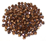 50 Full Antique Bronze 4mm Glass Crystal Bicones
