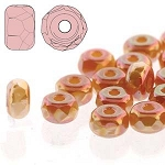 2.5 Grams of 2x3mm Czech Glass Faceted Micro Spacers - Full Apricot