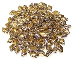 5 Grams of MINI DiamonDuo 2-Hole Czech Glass 4x6mm Beads - Full Aurum