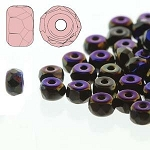 2.5 Grams of 2x3mm Czech Glass Faceted Micro Spacers - Jet Full Azuro