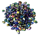 5 Grams of 3x5mm Czech Glass Gekko Beads - Crystal Magic Blue