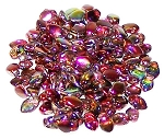 5 Grams of 3x5mm Czech Glass Gekko Beads - Crystal Magic Wine